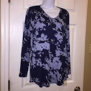 NWT Dana Bachman blue casual shirt w/ pockets S